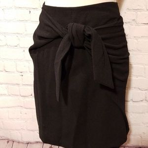 Who What Wear Black Wrap Skirt NWT